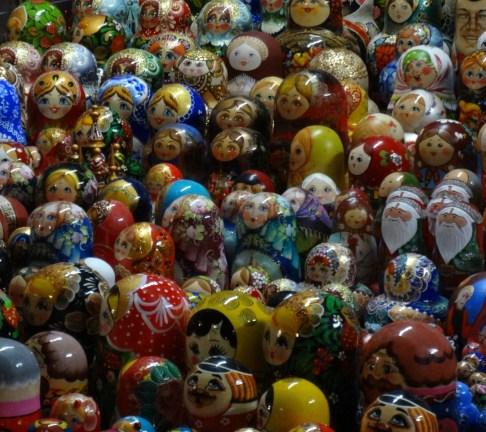 Matryoshki (nesting dolls) at the Russian crafts Holiday Market