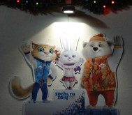 Sochi Olympics mascots are everywhere in Moscow!