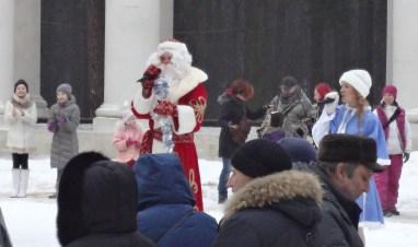 Ded Moroz and Snegurochka at Archangelskoye