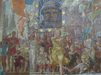 Moscow Metro mosaics, detail -- Prospect Mira (Peace Prospect) Station