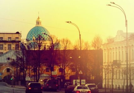 Blue & gold dome in Saint Petersburg