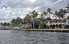 Mansions on the canals of Ft Lauderdale
