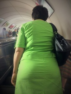 I almost went blind on the escalator.