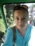 A very scary funicular from the Yalta promenade into the mountains