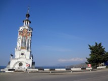 Lighthouse Church of St. Nicholas on the way to Yalta