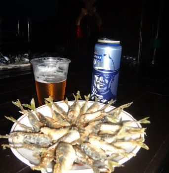 Fried up stavridka and beer