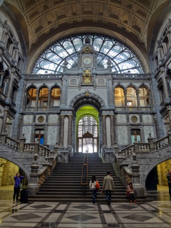 Antwerp's famous train station, or as it also known -- the Railway Cathedral.