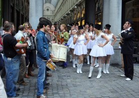 Music and parade in Brussels