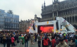 Music at the Grand Place in Brussels