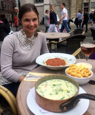 Waterzooi Stew with Annie in Antwerp