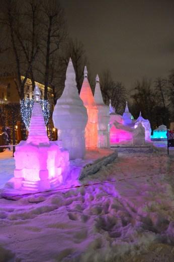 Hermitage Gardens ice sculpture 1