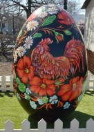 Red Rooster Easter Egg