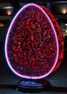 Sparkling Red Easter Egg