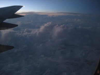 a view of the clouds from my plane