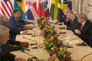 DOnald Trump Meets Caribbean Leaders