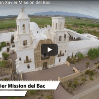 Drone video of San Xavier Mission