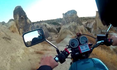 Taking Perry off road through Cappadocia and having an absolute blast!