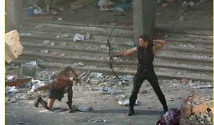 Scarlet Witch and Hawkeye
