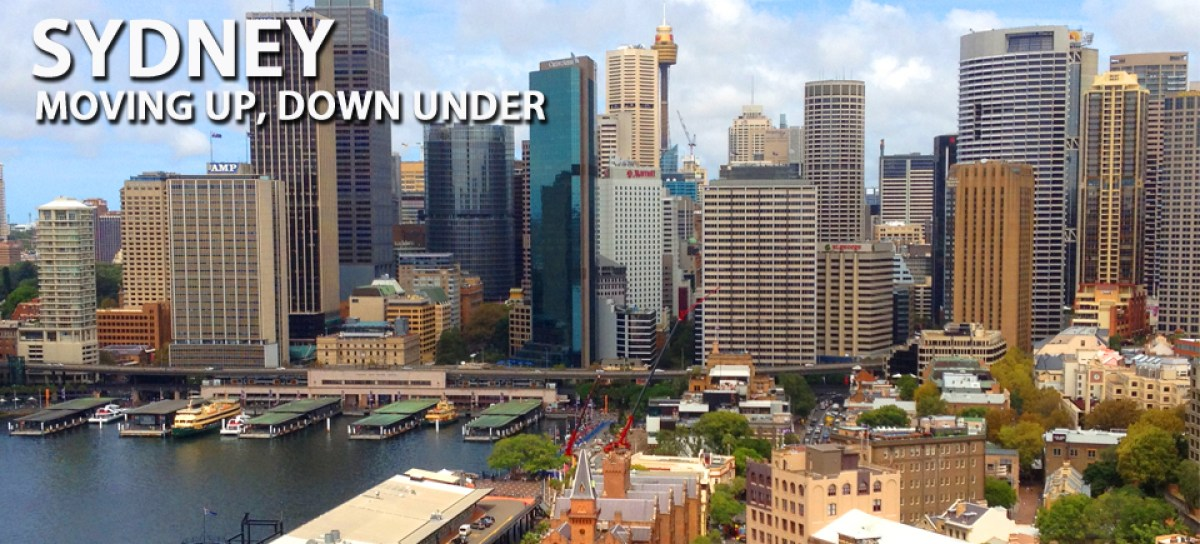 Going Global - Sidney, Moving Up, Down Under