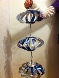 The Pop Can Wind Spinners I make (1/6)