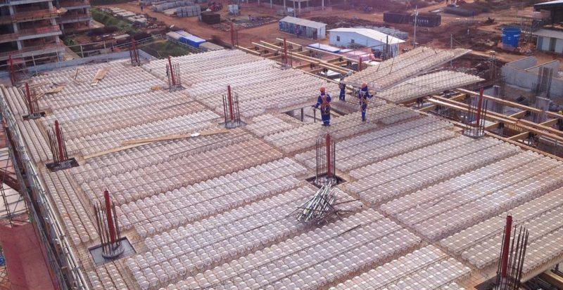 Laje de 1.000 m² pode ser preenchida em 6 dias