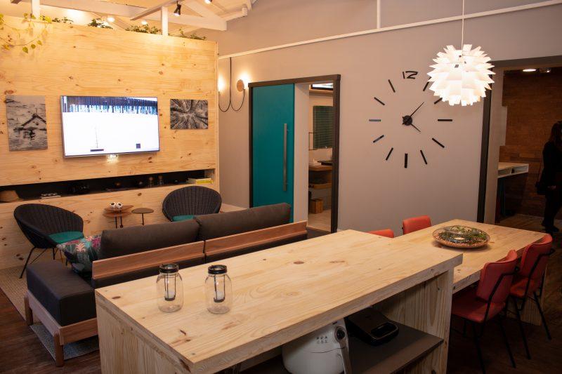 Salas integradas da Casa Sustentável Leroy Merlin