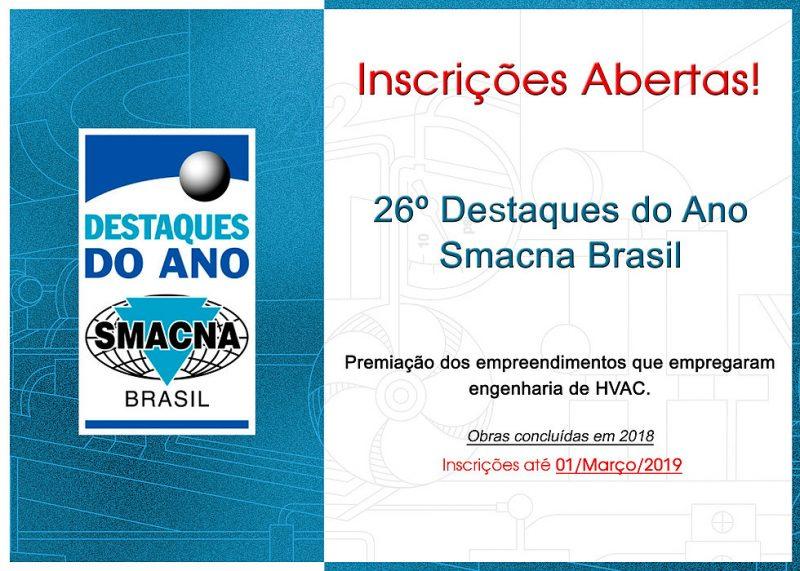 26º Destaques do Ano Smacna Brasil 2018