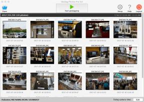 Mac側のアプリで撮影データを読み込む。上の「Start geotagging」で位置情報書き込み開始。