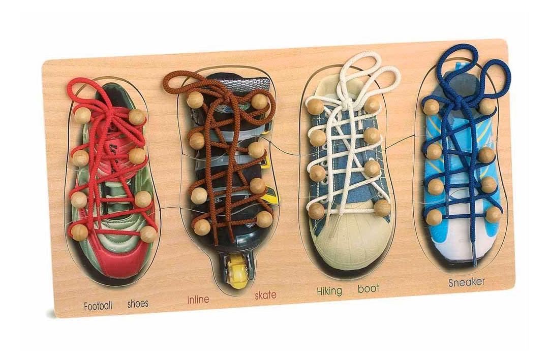 telai delle allacciature - tavola scarpe