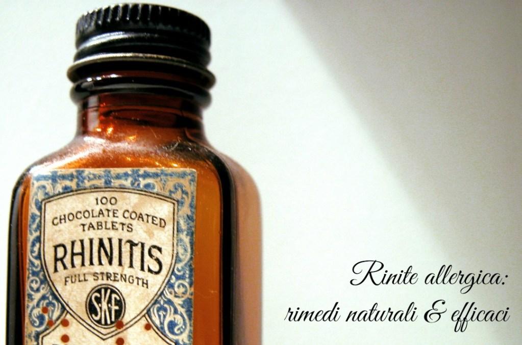 rinite allergica rimedi naturali