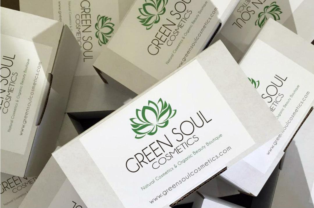 green soul cosmetics packaging