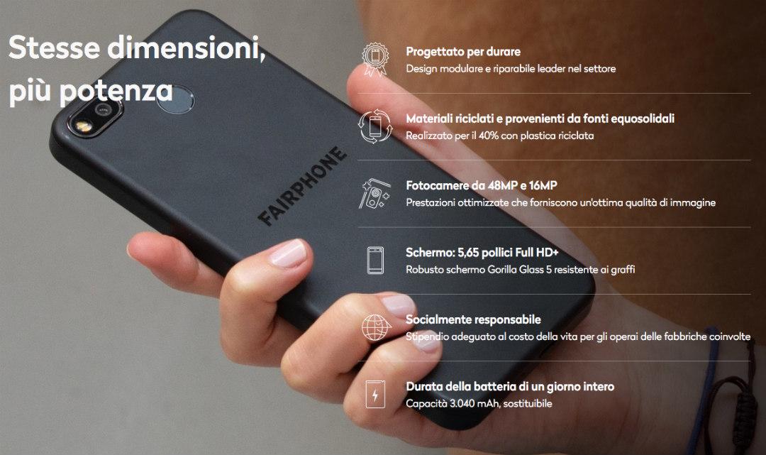 fairphone 3 plus caratteristiche