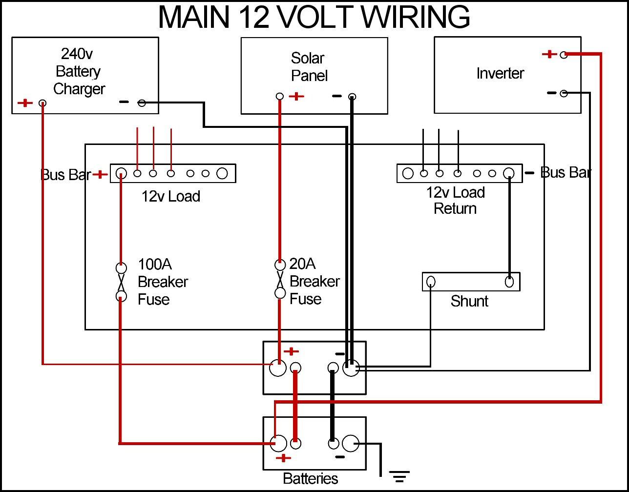 12v solar system wiring diagram onan generator dc ammeter shunt induced