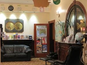 Green Tortoise Hostel has beautiful architectural features that evoke its historyin San Francisco's North Beach neighborhood © 2015 Karen Rubin/news-photos-features.com