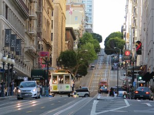 Riding the San Francisco cable car © 2015 Karen Rubin/news-photos-features.com