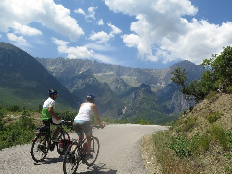 Biking in Albania's mountains © 2016 Karen Rubin/goingplacesfarandnear.com