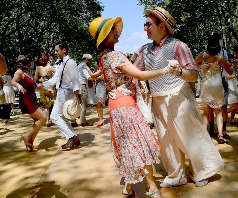 Charleston lesson at 11th Annual Jazz Age Lawn Party on Governors Island © 2016 Karen Rubin/news-photos-features.com