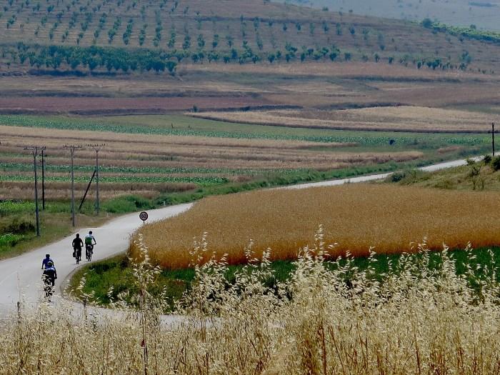 Biking through Albania's countryside © 2016 Karen Rubin/goingplacesfarandnear.com