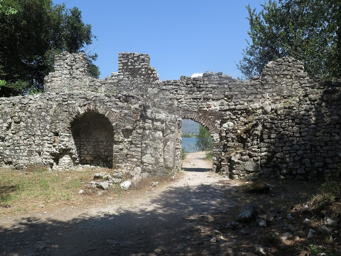 Unearthed ruins of the ancient city of Butrint © 2016 Karen Rubin/goingplacesfarandnear.com