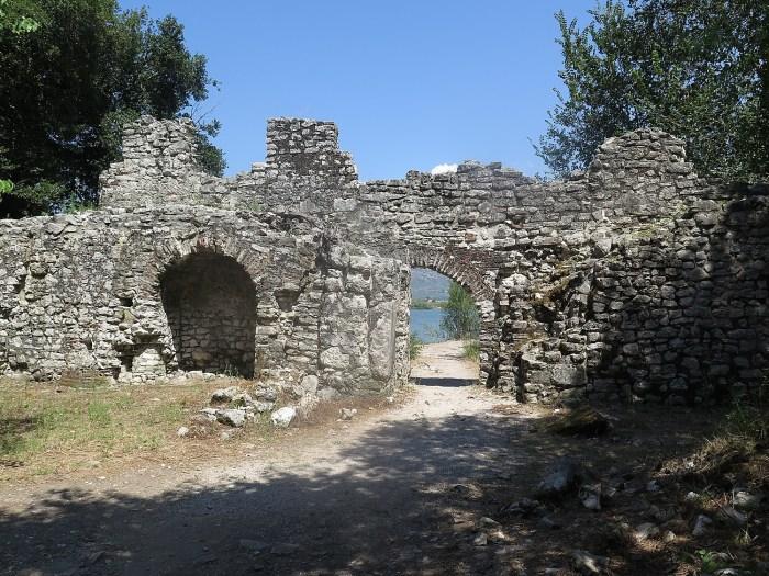 Unearthed ruins of the ancient city of Butrint © 2016 Karen Rubin/goingplacesfarandnear.com