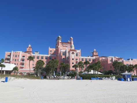 "Loews Don CeSar Hotel (1928), the famous ""Pink Lady"" of  St. Pete Beach, Florida, is a finalist for Best Social Media of a Historic Hotel © 2016 Karen Rubin/goingplacesfarandnear.com"