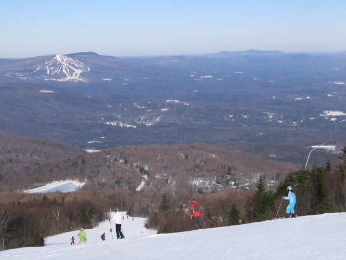 Stratton Mountain Resort is offering jitney transportation from Manhattan to its slopes © 2016 Karen Rubin/goingplacesfarandnear.com