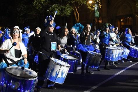 The Village Halloween Parade is a rhythmic musical extravaganza © 2016 Karen Rubin/goingplacesfarandnear.com