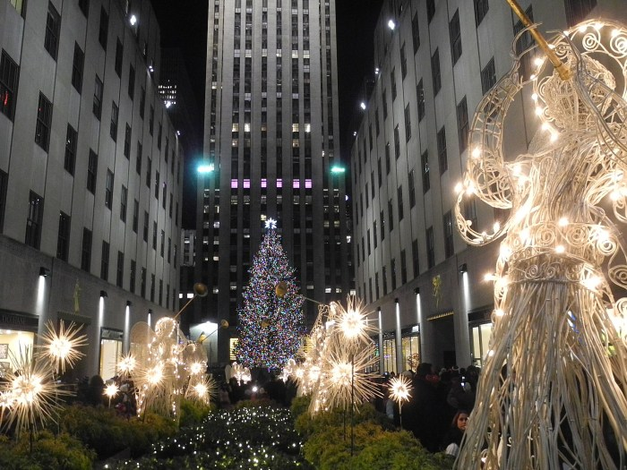 Rockefeller Center is like Christmas central in New York City © 2016 Karen Rubin/goingplacesfarandnear.com