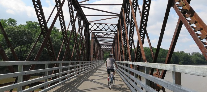 Cycle the Erie, Days 7-8: Schoharie Crossing, Mabee Farm, Cohoes Falls to Finish Line in Albany of 400-Mile BikeTour