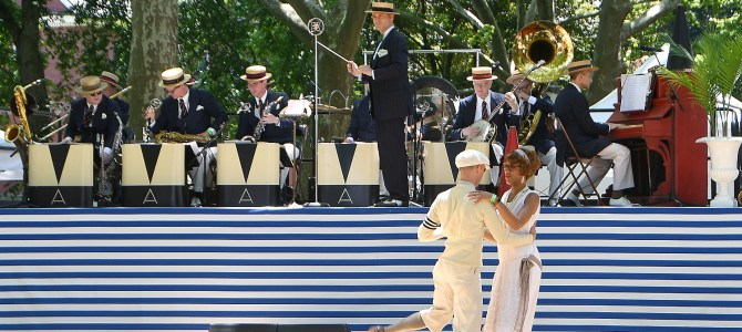 Gatsby-esque Jazz Age Lawn Party is Joyful Escape on Governors Island, New York City's Island Retreat