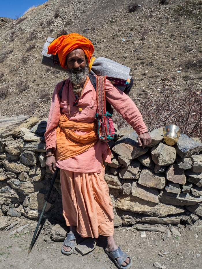 Sadhu pilgrim on the way to Muktinath