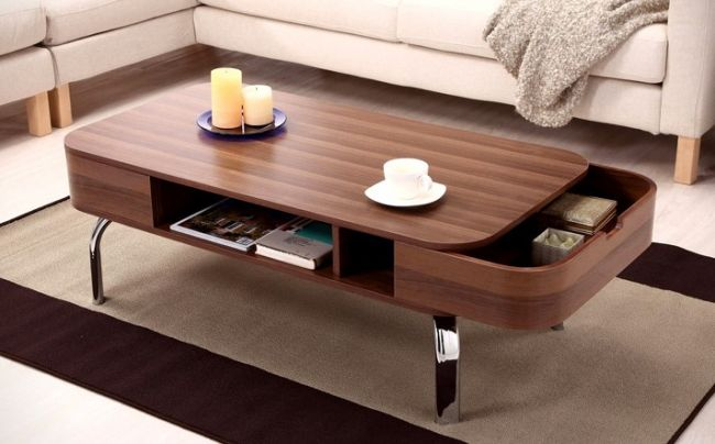 Unique Coffee Table With Pocket Drawers