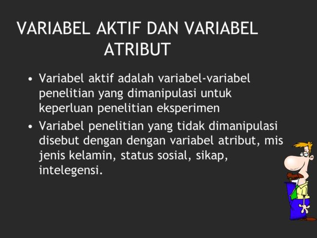 variabel atribut