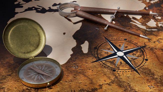 arah mata angin kompas
